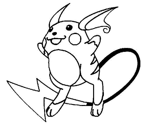 Raichu Para Colorear Pokemon Coloring Pokemon Coloring Pages