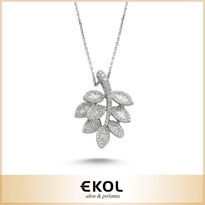 Doğanın zarif şeklinden ilham alan bir tasarım... #ekol #jewelry #pırlanta #altın #kolye #şık #zarif #tasarım