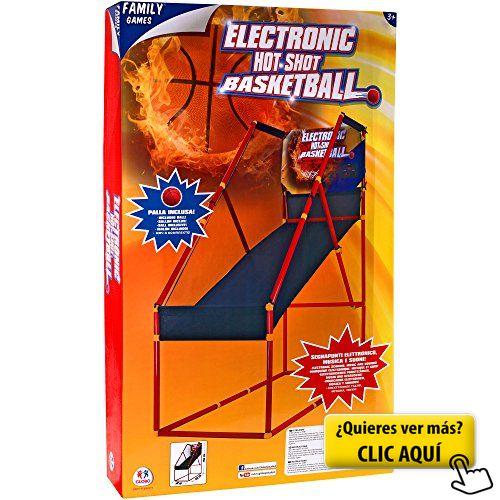 Family Games - Baloncesto con pilas con marcador,... #canasta