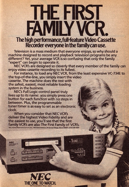 NEC Video Cassette Recorder. Advertisement from the TV Guide Fall Preview 1983.