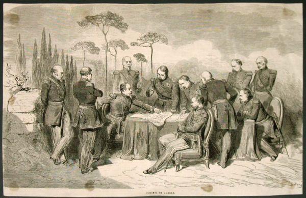 Доре Густав. Conseil de guerre. 1850-е. Ксилография. ПРОДАНО