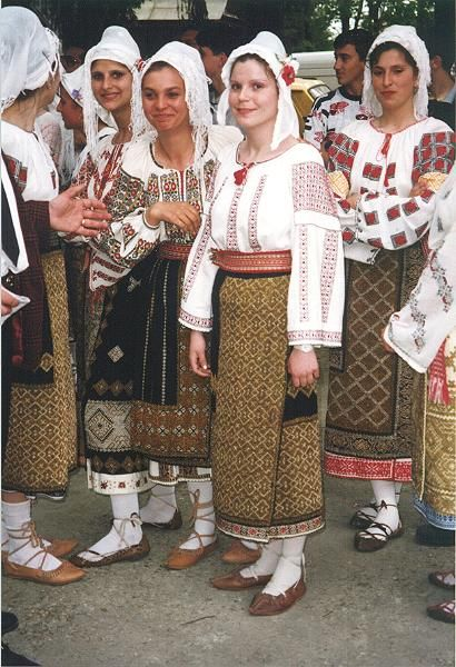 Traditional Romanian costume.  Wallachia photo