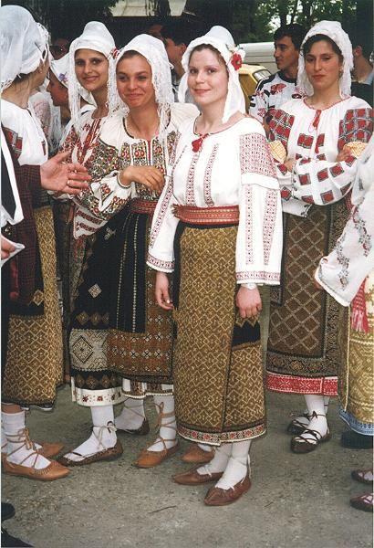 Traditional Romanian costume.  Wallachia photo