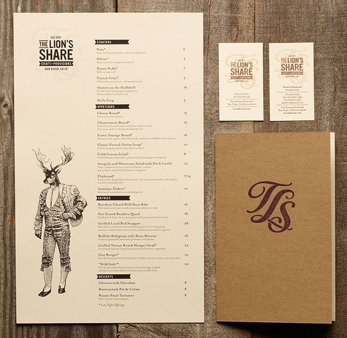 The Lion's Share  San Diego, California    Designed by Dylan Jones.   #Branding