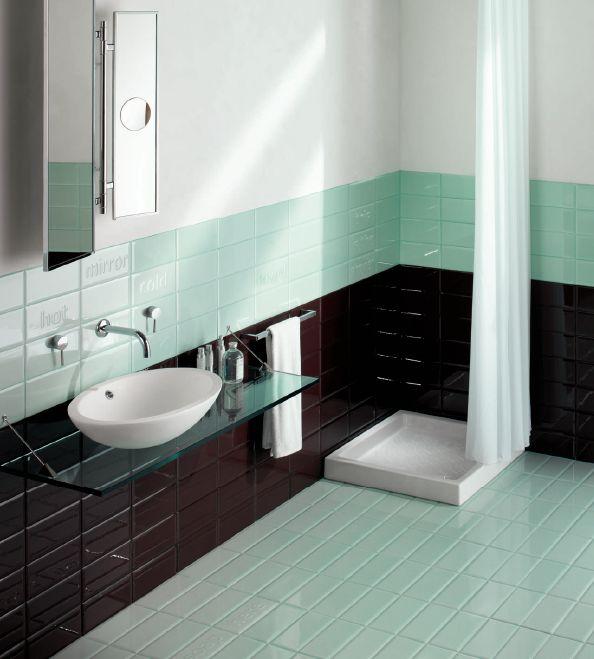 Las 25 mejores ideas sobre colores para ba os peque os en - Decoracion banos azulejos ...