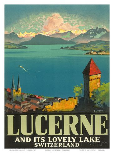 Lucerne and its lovely lake. Otto Landolt.