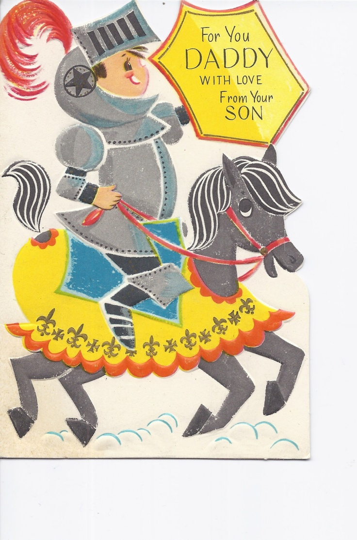 Vintage Happy Father's Day card