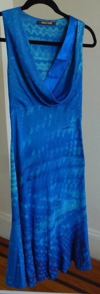 Roberto Cavalli Aqua Blue Dress Size Small #RobertoCavalli
