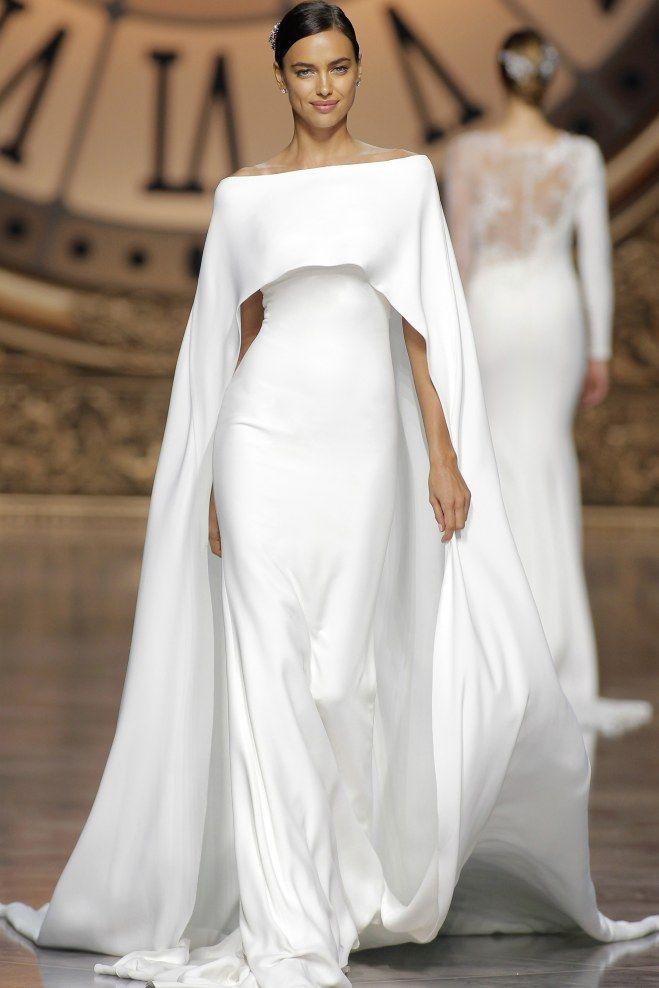 Robe de mariée ultra sobre et ultra chic, blanche, signée Pronovias 2016