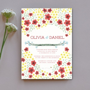 Dainty Flowers - Invitation