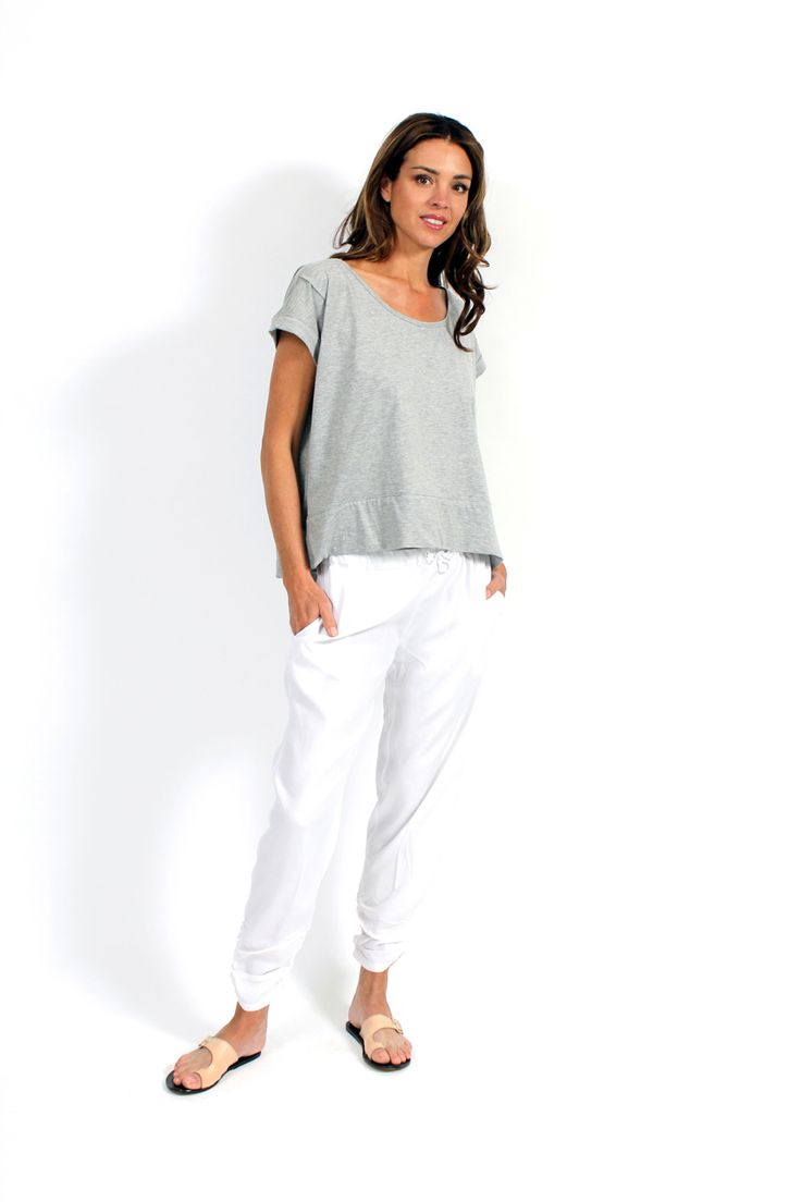 Relaxed blanc tapered pant - Surafina