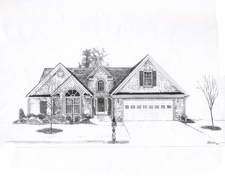 house drawing Dream house drawing