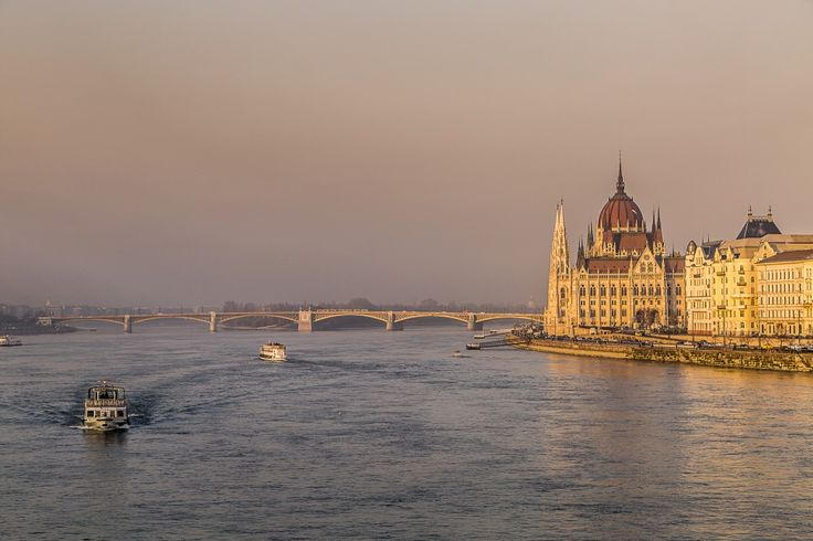 The Budapest Parlament Building and the Danube Riverbank