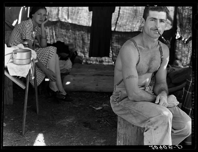Unemployed lumber worker and wife, Oregon 1939; Library of Congress FSA/OWI collection