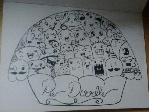 Pie Doodle,drawing pen,corat coret