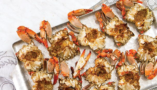"""""""This recipe for barbecued crabs is one I dearly treasure. It was given to me years ago by my friend, the late Henry Mayer, who was an avid outdoorsman and a grand cook."""" - Marcelle Bienvenu"""
