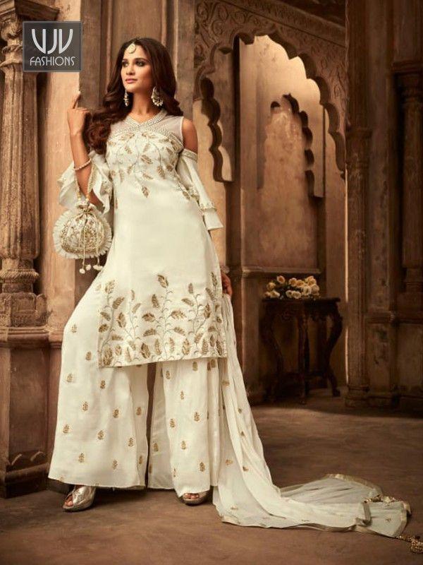 Indian women Formal sharara salwar kameez suit Bollywood kurti pakistani plazzo