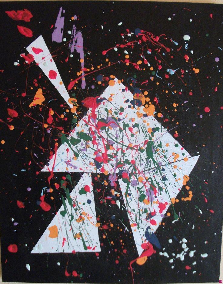 """""""Disprezzo"""" Acrylics on canvas 40x50 - 2012"""