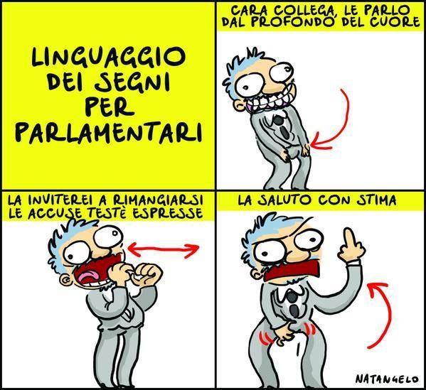 il popolo del blog,: linguaggio dei segni parlamentari