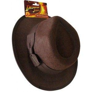 Chapeau Indiana Jones enfant deluxe, licence officielle, carnaval, fêtes.