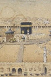 Old Drawing of Masjid al-Haram (Makkah, Saudi Arabia):