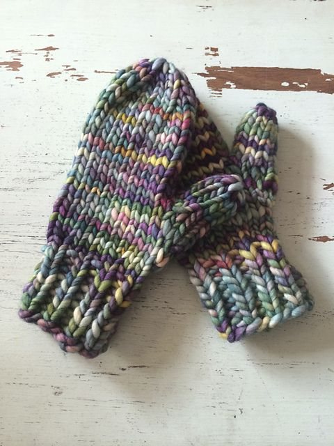 Lightning Fast Mittens by Hill Vintage and Knits. malabrigo RAsta in Arco Iris
