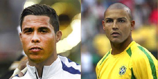 Brazylijczyk Ronaldo wygląda jak Cristiano Ronaldo • Dwóch Ronaldo w nieswoich twarzach i koszulkach • Zobacz śmieszne zdjęcie >>