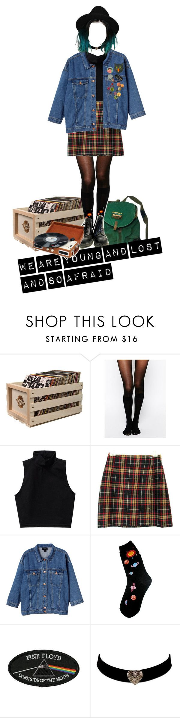 """""""we are young and lost and so afraid ---HIM"""" by tearsofashes on Polyvore featuring moda, Crosley, Pretty Polly, Talula, Monki, Foot Traffic ve Retrò"""