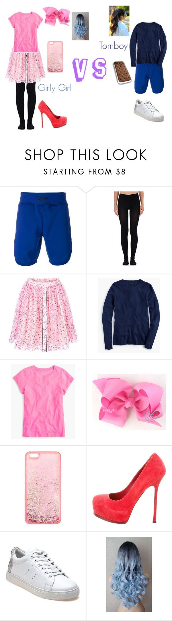 """Girly Girl vs. Tomboy: Interview outfits"" by sierra-ivy on Polyvore featuring Hydrogen, Wolford, Fendi, J.Crew, Miss Selfridge, Yves Saint Laurent, Lola Cruz, girly, tomboy and girlygirl"