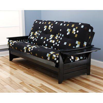 Harwich Modern Blocks Futon and Mattress Frame Finish: Black - http://delanico.com/futons/harwich-modern-blocks-futon-and-mattress-frame-finish-black-697890914/
