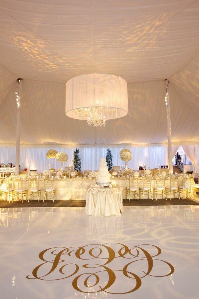 Gold and Crystal Illinois Wedding at the Exmoor Country Club from Artisan Events - wedding reception idea