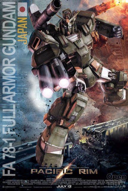 •Fictional Team Japan in Pacific Rim Gundam Jaeger why not?