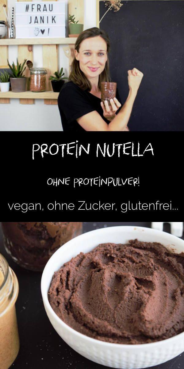 Protein Nutella Chocolate Choco ohne Eiweißpulver & vegan ohne Eiweißpulver, …   – Blogger – Frühstück mal anders