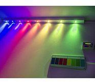 Colour Change Lights #sensory lighting #sensory studio #sensory room lighting #switch4 #iPad lighting control #colourwash #Rainbow Light Bar #Mike Ayres Design #controllable lighting #sensory equipment #SEN #Autism #Special Needs education #calm space #chill out room