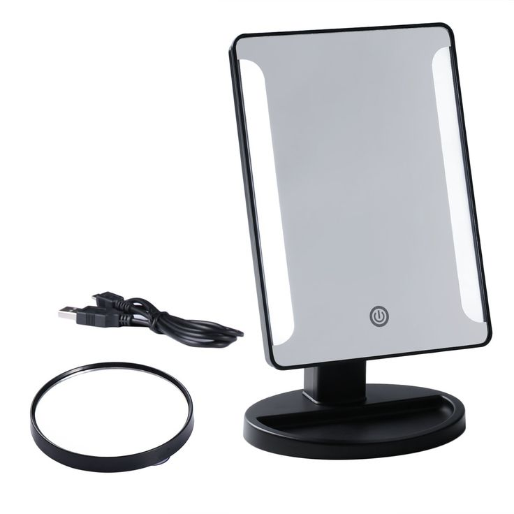 36 LED Desk Makeup Mirror 10x Magnifying Lighted Makeup Mirror Portable  Mirror With Lights Vanity Mirror