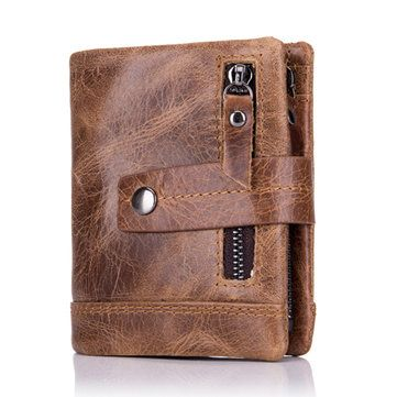 b9a42a724c1bd6 Hot-sale BULLCAPTAIN 13 Card Slots Wallet Genuine Leather Card Holder  Vintage Coin Bag For Men - NewChic Mobile