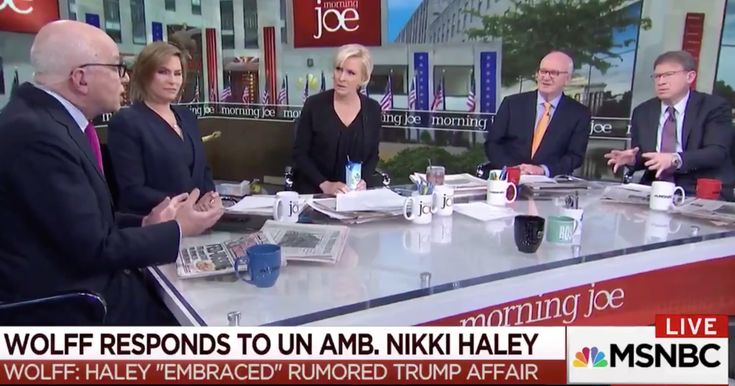 WATCH: MSNBC's Mika Brzezinski Throws Smear Artist Michael Wolff Off The Set When He Denies Targeting Nikki Haley