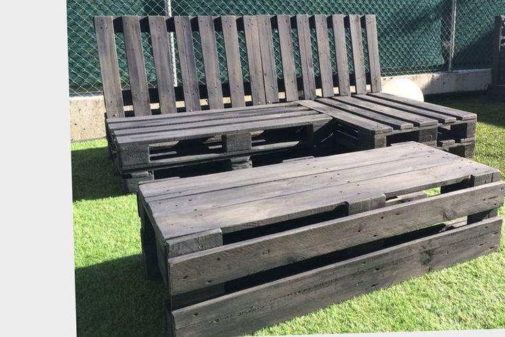 Conjunto de sof chaise lounge y mesa para exterior for Sofa rinconera exterior