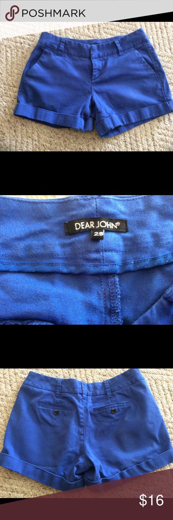 Cobalt Blue Dear John shorts size 29 from stitchfx Great Condition. Smoke/animal free Dear John  Shorts