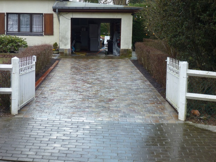 9 best Réalisation du0027entrée de garage images on Pinterest Garage - Dalle Pour Parking Exterieur