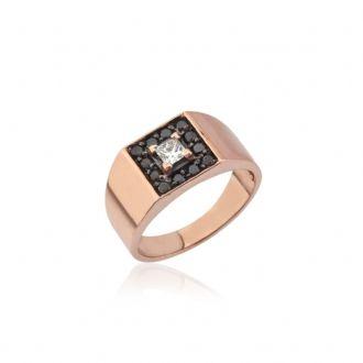 """Baguette Jewellery """"prenses taşlı serçe parmak yüzüğü"""" """"14 K Rose Altın, 0.11 ct. Prenses, 0.12 ct. Siyah Pırlanta""""  #maximumkart #aksesuar #accessory #moda #fashion #yüzük #yüzükmodelleri"""