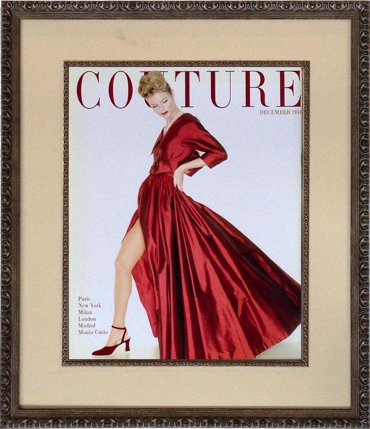 Couture December 1954 Framed Print