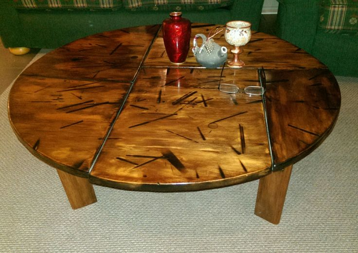 Copy of a English Country Oak Cricket Table.   Guy hooked.com