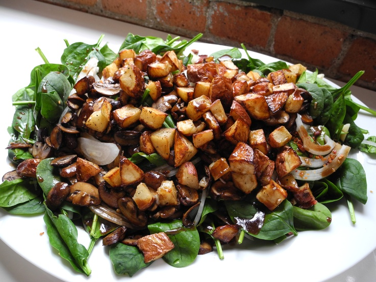 Spinach with Balsamic Roasted Potatoes and Sweet Dijon Vinaigrette ...