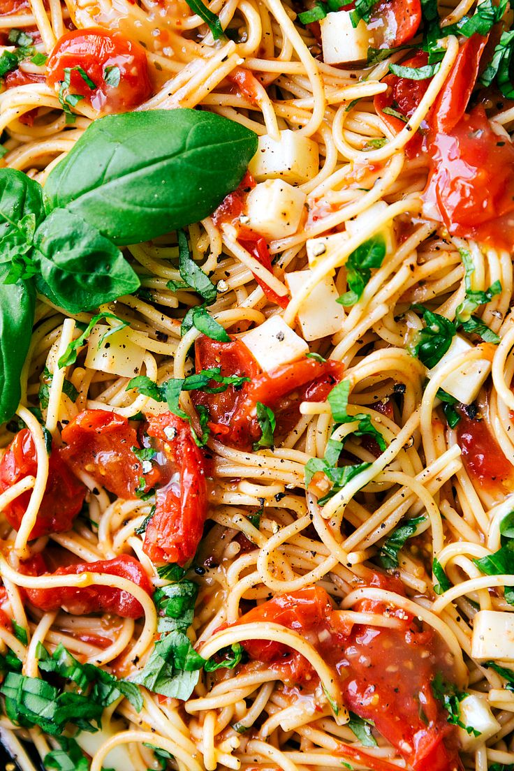 Angel hair pasta tossed with a cherry tomato and Zesty Italian sauce and topped with fresh mozzarella cheese and shredded basil.