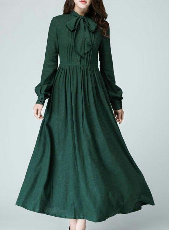Lovely emerald maxi dress