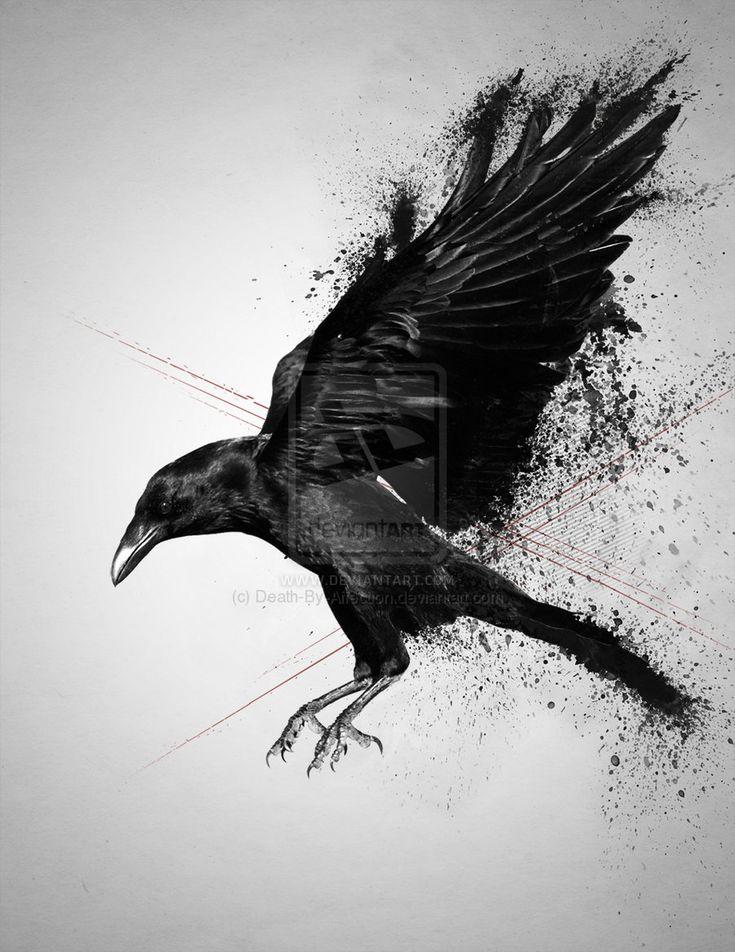 Les 25 meilleures id es de la cat gorie corbeau tatouage sur pinterest tatouages corbeau art - Tatouage corbeau signification ...