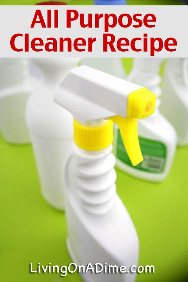 how to make your own all purpose cleaner