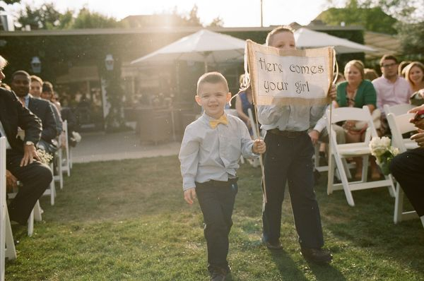 Sign for flower girls to carry