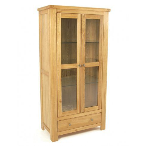 Elmwood 2 Door Display Cabinet, elmwood 2 Door Display Cabinet, elmwood furniture, light wood 2 Door Display Cabinet